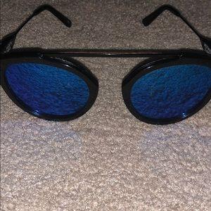 Westward Leaning Mirror Sunglasses Black Frame